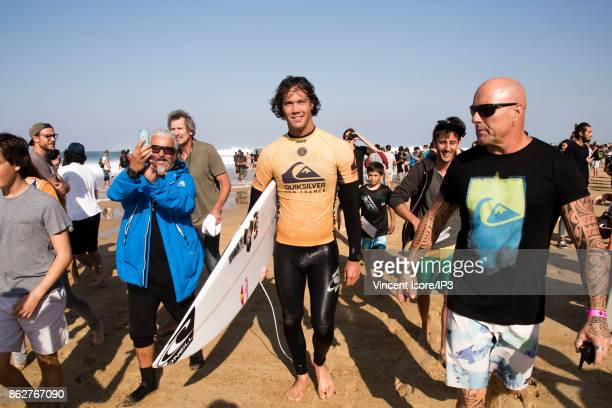 Jordy Smith from South Africa takes a crowd bath during the Quicksilver Pro France surf competition on October 12 2017 in Hossegor France he French...