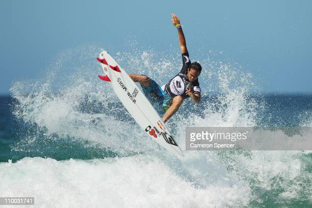 Jordy Smith of South Africa competes in the heats of the Boost Mobile Surfsho at Bondi Beach on March 13 2011 in Sydney Australia