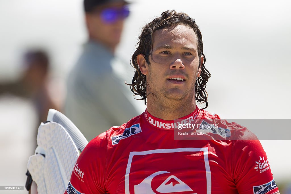 Jordy Smith of South Africa looks on during the Quiksilver Pro on March 11, 2013 in Gold Coast, Australia.