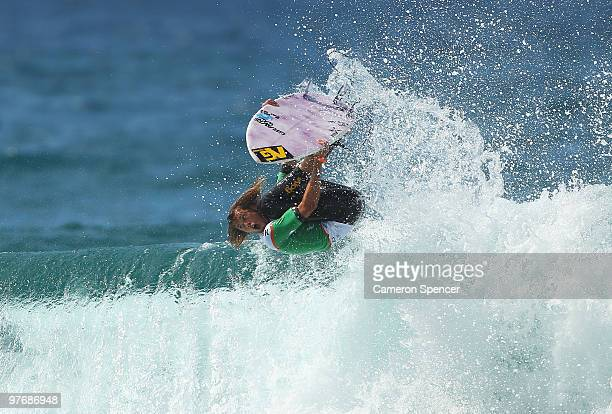 Jordy Smith of South Africa performs an air during the Boost Bondi Beach SurfSho at Bondi Beach on March 14 2010 in Sydney Australia