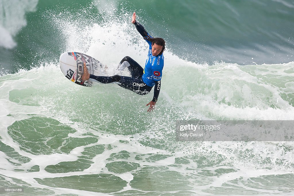 Jordy Smith of South Africa placed equal 5th at the RipCurl Pro Portugal on October 17, 2013 in Peniche, Portugal.