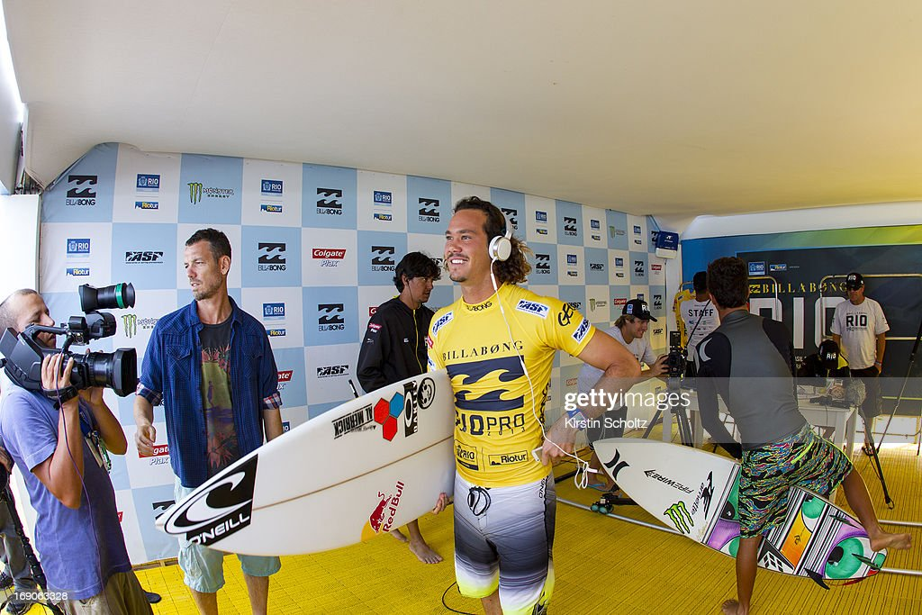 Jordy Smith of South Africa ready for his semifinal heat at the Billabong Rio Pro on May 19, 2013 in Rio de Janeiro, Brazil.