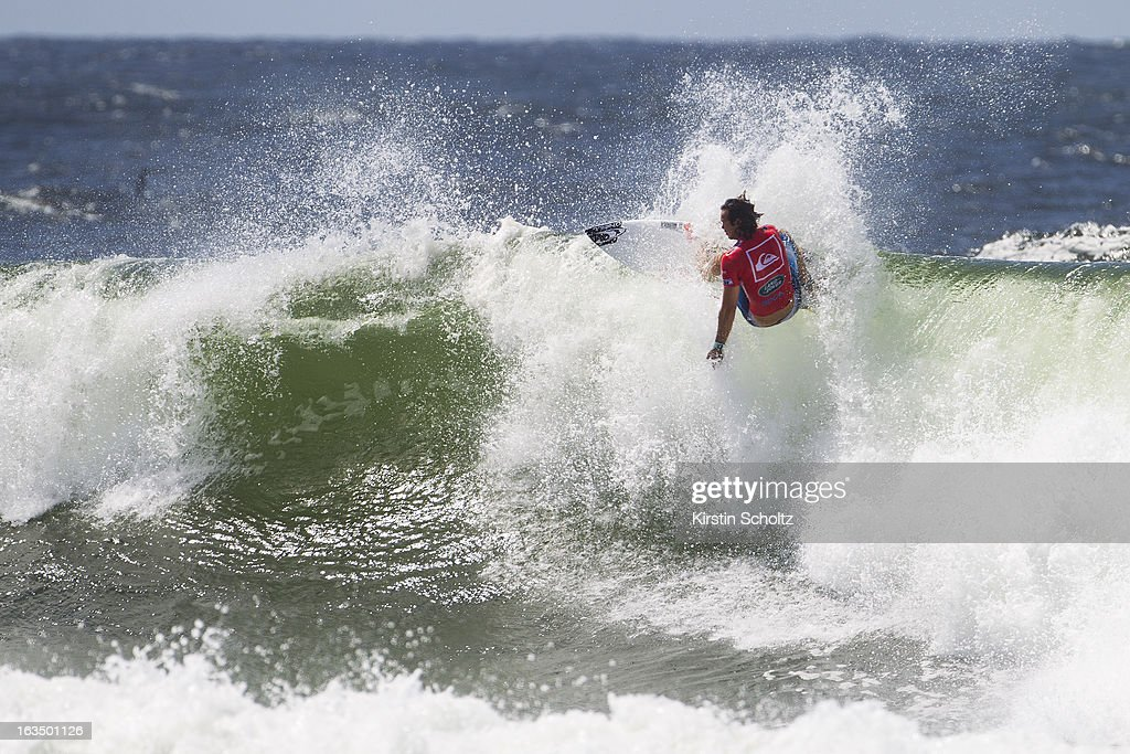 Jordy Smith of South Africa surfs during round three of the Quiksilver Pro on March 11, 2013 in Gold Coast, Australia.