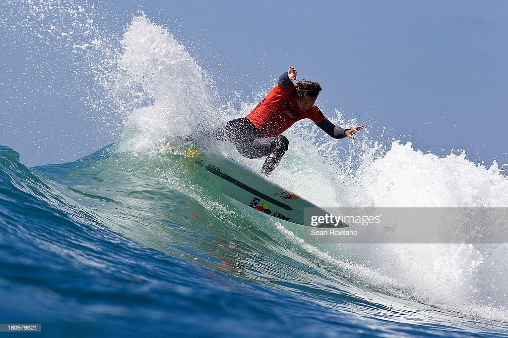 Jordy Smith of South Africa surfs during the semifinals at The Hurley Pro on September 18, 2013 in San Diego, California.