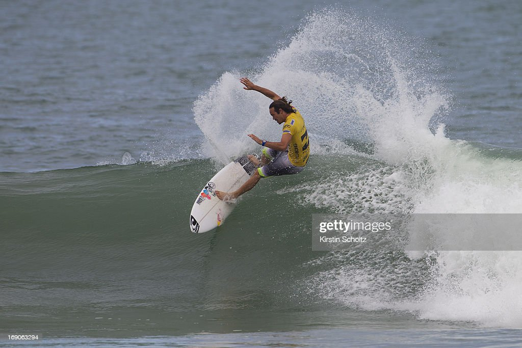 Jordy Smith of South Africa surfs to victory at the Billabong Rio Pro on May 19, 2013 in Rio de Janeiro, Brazil.