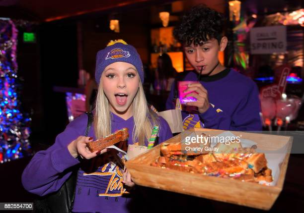 Jordyn Jones and Brandon Westenberg attend Call It Spring takes over HYDE Lounge to host young Hollywood's finest for the Lakers vs Warriors NBA Game...