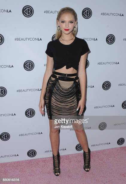 Jordyn Jones arrives at the 5th Annual Beautycon Festival Los Angeles at Los Angeles Convention Center on August 12 2017 in Los Angeles California