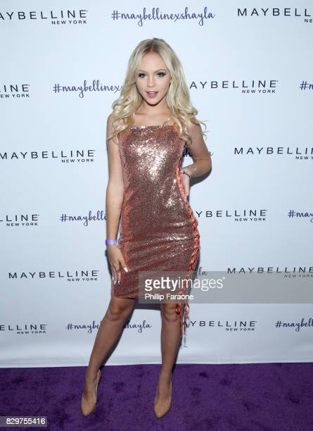 Jordyn Jones attends Maybelline New York Celebrates First Ever Cobranded Product Collection With Beauty Influencer Shayla Mitchell at 1OAK on August...