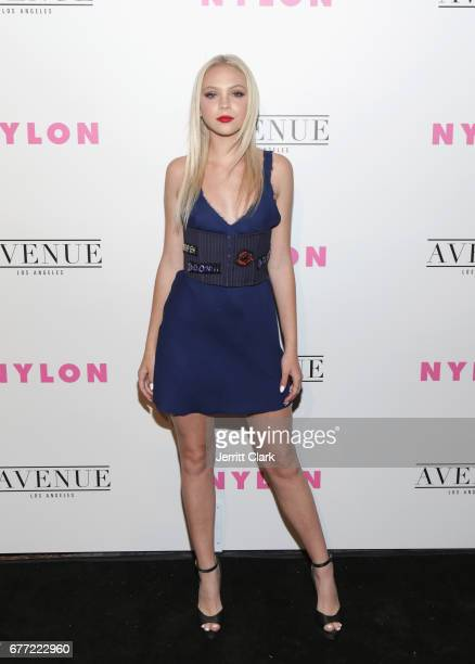Jordyn Jones attends NYLON's Annual Young Hollywood May Issue Event With Cover Star Rowan Blanchard at Avenue on May 2 2017 in Los Angeles California