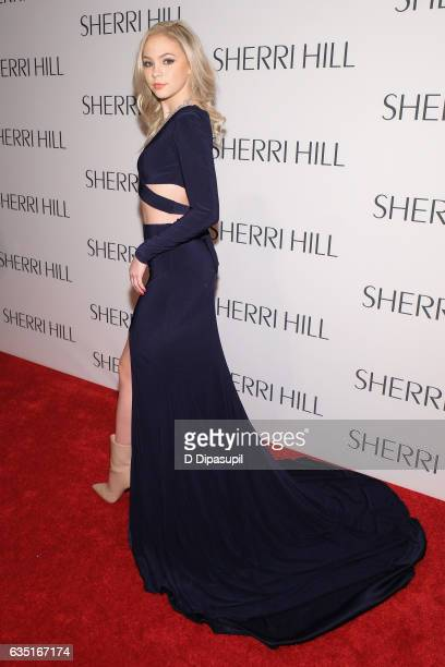 Jordyn Jones attends the Sherri Hill NYFW Fall 2017 Runway Show at Gotham Hall on February 13 2017 in New York City