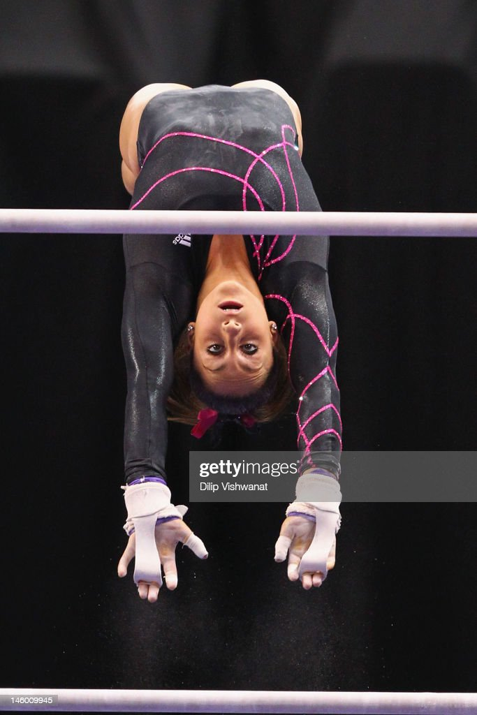 <a gi-track='captionPersonalityLinkClicked' href=/galleries/search?phrase=Jordyn+Wieber&family=editorial&specificpeople=5720749 ng-click='$event.stopPropagation()'>Jordyn Wieber</a> competes on the uneven bars during the Senior Women's competition on day two of the Visa Championships at Chaifetz Arena on June 8, 2012 in St. Louis, Missouri.