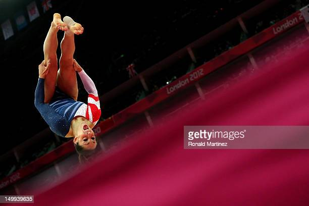 Jordyn Wieber of the United States of America competes during the Artistic Gymnastics Women's Floor Exercise final on Day 11 of the London 2012...