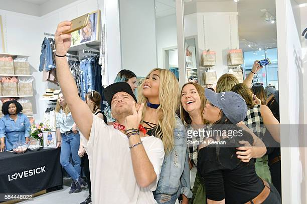 Jordyn Woods and guests attend Lovesick Celebrates New Brand Ambassador Jordyn Woods at Plaza West Covina on July 28 2016 in West Covina California