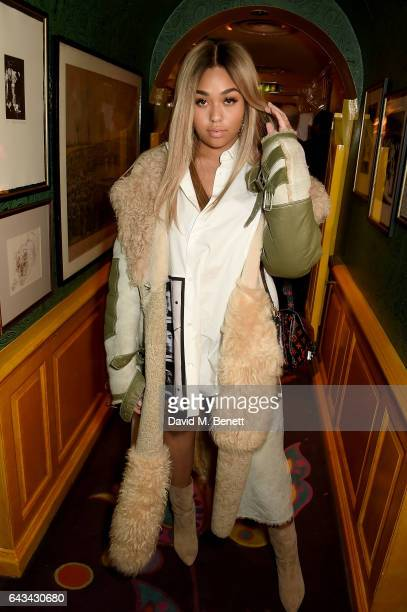 Jordyn Woods at the LOVE and Burberry London Fashion Week Party at Annabel's celebrating Katie Grand and Kendall Jenner's #LOVEME17 on February 20...