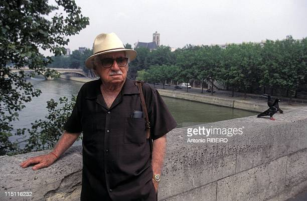 Jorge Amado Author in Paris France in July 1995