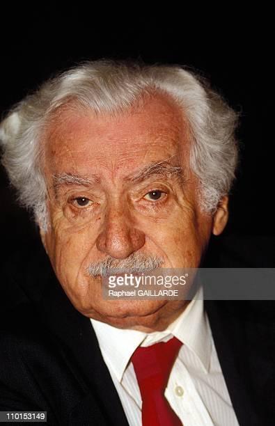 Jorge Amado Cuban writer in France on November 30 1992