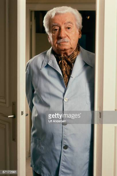 Jorge Amado poses while at home in ParisFrance on the 28th of February 1991