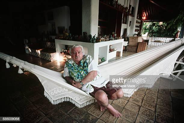 Jorge Amado Sitting on Hammock