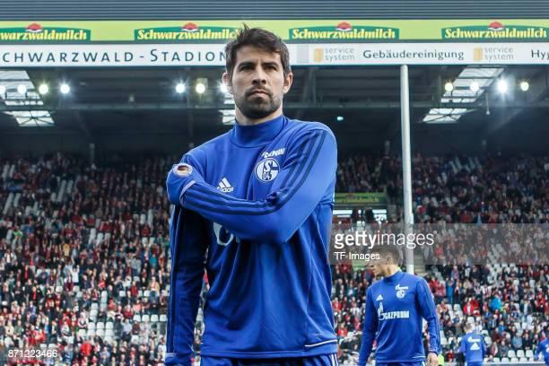 Jorge Andujar Moreno Coke of Schalke looks on prior the Bundesliga match between SportClub Freiburg and FC Schalke 04 at SchwarzwaldStadion on...