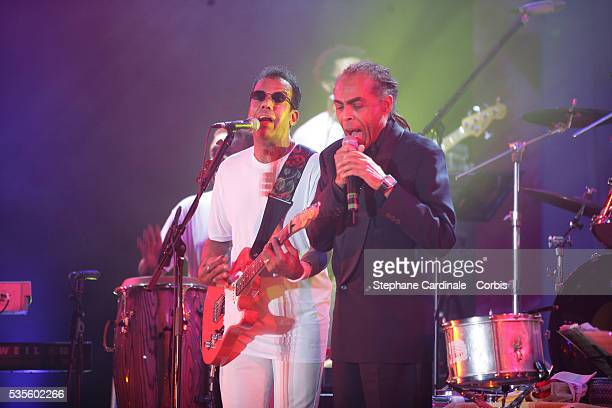 Jorge Ben Gilberto Gil at the Brazil Rose Balll held at the Sporting in Monaco