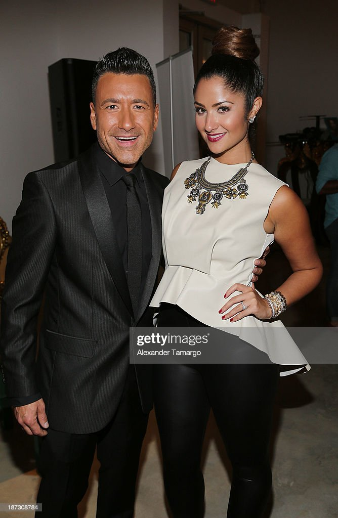 Jorge Bernal and Karla Birbragher attend Miami Hair Beauty and Fashion 2013 by Rocco Donna on November 7, 2013 in Miami, Florida.