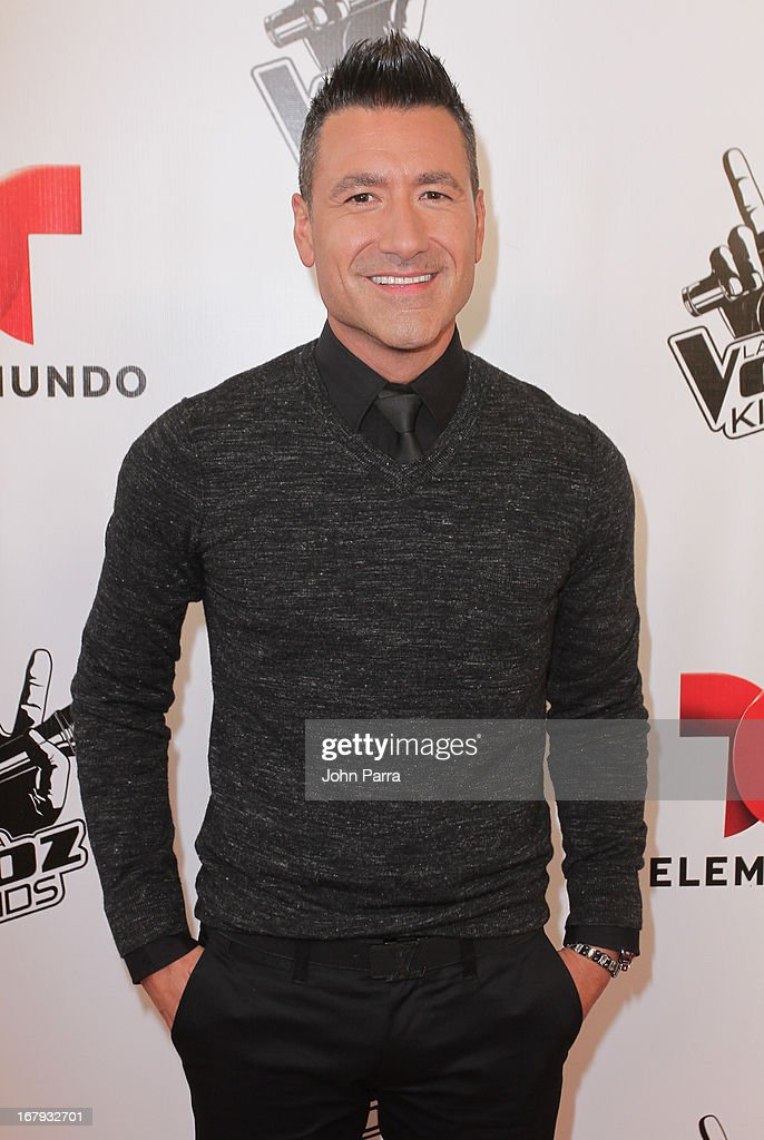 Jorge Bernal attends a press conference for Telemundo's 'La Voz Kids' on May 2, 2013 in Miami, Florida.