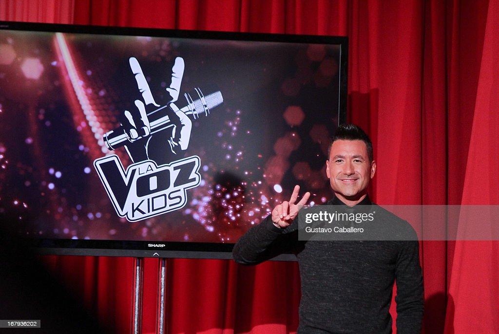 Jorge Bernal attends a press conference for Telemundo's 'La Voz Kids' on May 2, 2013 in Miami, Florida.