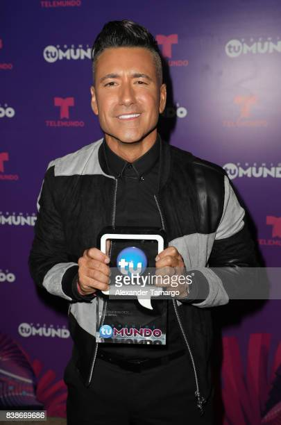 Jorge Bernal is seen in the press room during Telemundo's 'Premios Tu Mundo' at AmericanAirlines Arena on August 24 2017 in Miami Florida