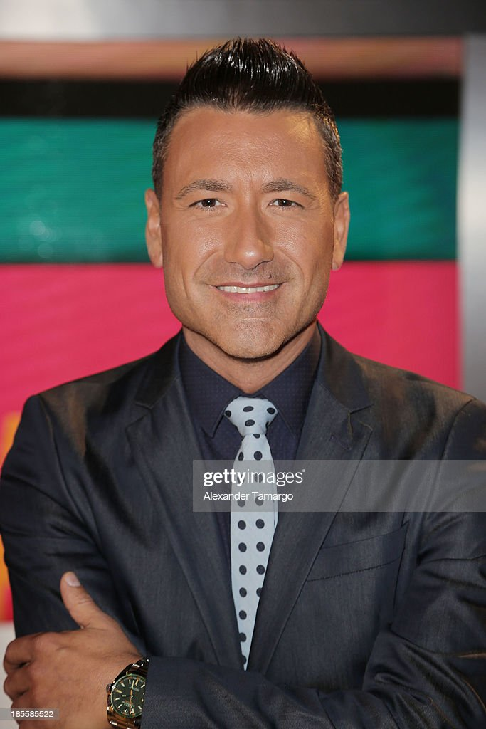 Jorge Bernal is seen on the set of the new Telemundo show 'Suelta La Sopa' on October 22, 2013 in Miami, Florida.