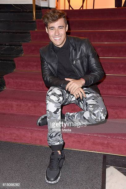 Jorge Blanco actor of Disney Channel TV series Violetta attends the 'Sister Act The Musical' premiere Party at Stage Theater on October 16 2016 in...