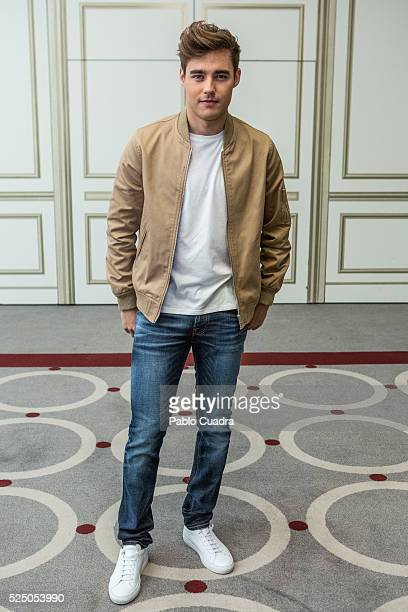 Jorge Blanco attends 'Tini el gran cambio de Violetta' at Palace Hotel on April 27 2016 in Madrid Spain