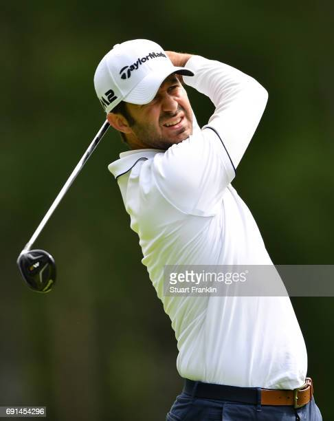 Jorge Campillo of Spain in action during the second round of The Nordea Masters at Barseback Golf Country Club on June 2 2017 in Barsebackshamn Sweden