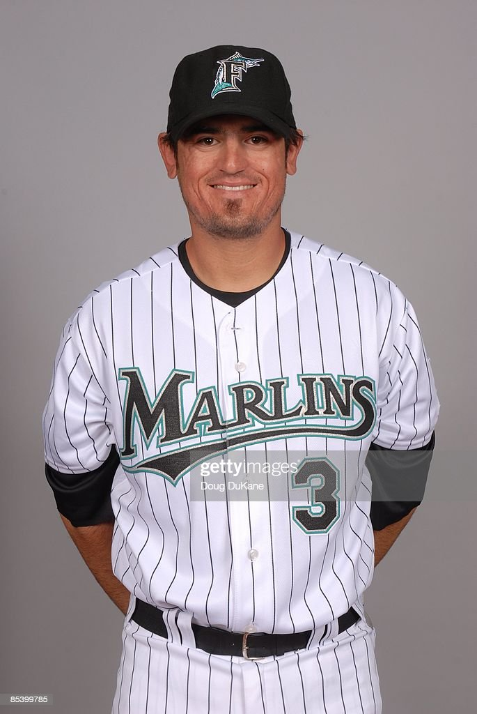 Jorge Cantu of the Florida Marlins poses during Photo Day on Sunday, February 22, 2009 at Roger Dean Stadium in Jupiter, Florida.