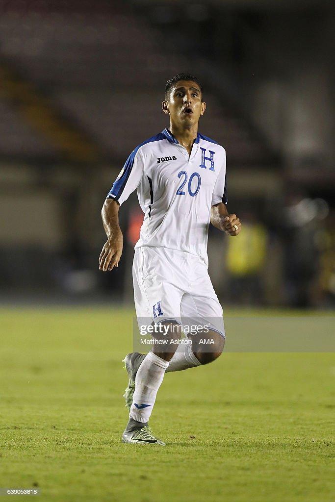 Jorge Claros of Honduras during the Copa Centroamericana 2017 tournament between Panama and Honduras at Estadio Rommel Fernandez on January 17, 2017 in Panama, Ciudad de, Panama.
