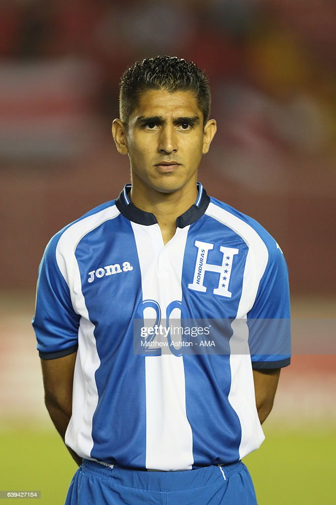 Jorge Claros of Honduras during the Copa Centroamericana 2017 tournament between Honduras and Costa Rica at Estadio Rommel Fernandez on January 20, 2017 in Panama, Ciudad de, Panama.