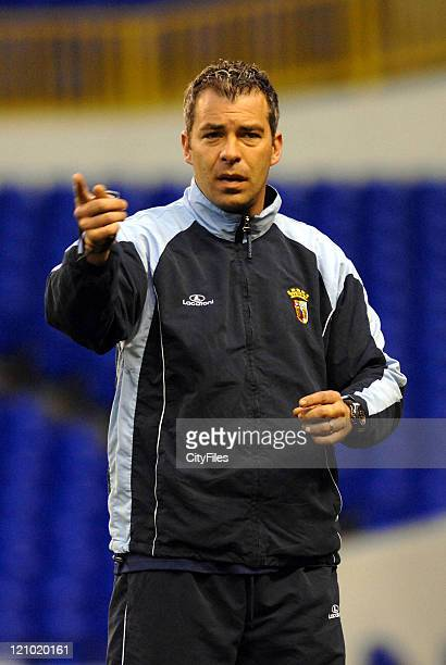 Jorge Costa during the SC Braga soccer team first training session at White Hart Lane Stadium for the second leg of their UEFA Cup Round of 16...