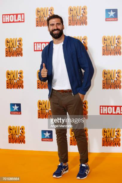 Jorge Cremades attends the 'Despicable Me 3' premiere at Kinepolis cinema on June 22 2017 in Madrid SPAIN