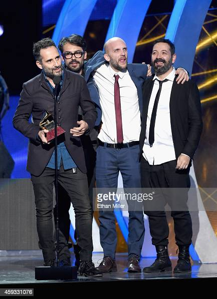 Jorge Drexler accepts the Grammy for Record of the Year onstage during the 15th Annual Latin GRAMMY Awards at the MGM Grand Garden Arena on November...
