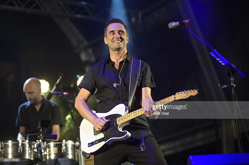 Jorge Drexler performs on stage at Bona Nit Barcelona 2014 at Poble Espanyol on July 19 2014 in Barcelona Spain