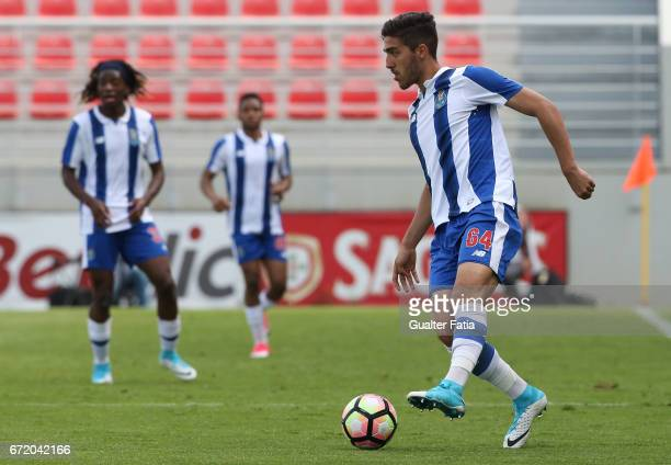 Jorge Fernandes of FC Porto B in action during the Segunda Liga match between SL Benfica B and FC Porto B at Caixa Futebol Campus on April 23 2017 in...