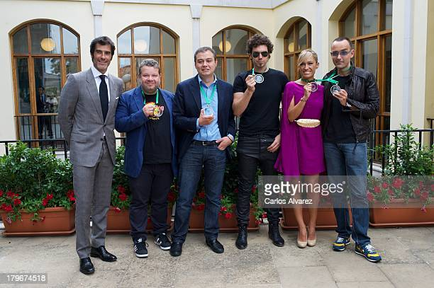 Jorge Fernandez Alberto Chicote Ricardo Villa Pablo Ibanez Lujan Arguelles and Risto Mejide attend the 'QVemos' awards during the day five of 5th...