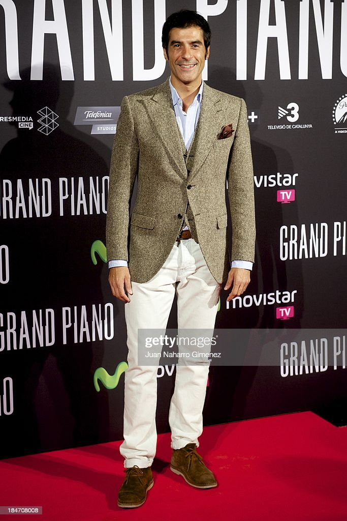 Jorge Fernandez attends 'Grand Piano' premiere at the Capitl Cinema on October 15, 2013 in Madrid, Spain.