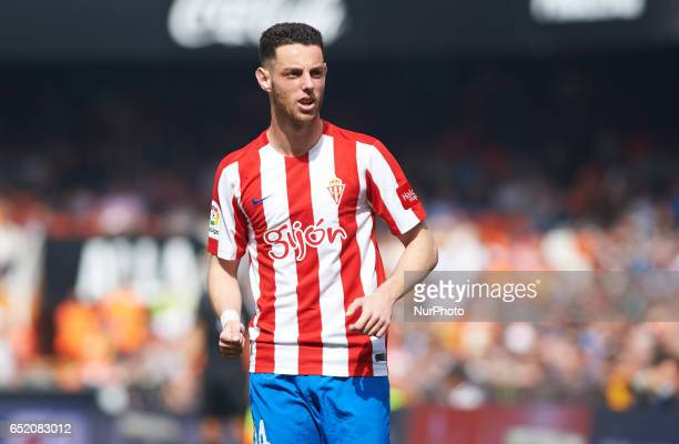 Jorge Franco Burgui of Real Sporting de Gijon during their La Liga match between Valencia CF and Real Sporting de Gijon at the Estadio de Mestalla on...