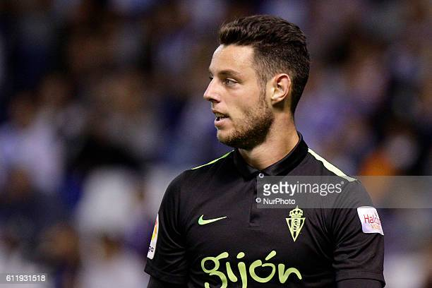 Jorge Franco quotBurguiquot of Sporting de Gijon during the La Liga Santander match between Real Club Deportivo de La Coruna vs Real Sporting De...
