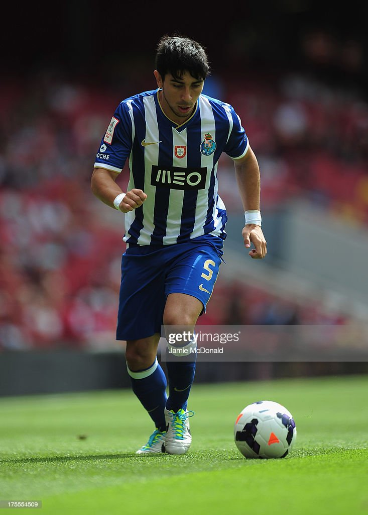 Jorge Fucile of FC Porto in action during the Emirates Cup match between Napoli and FC Porto at the Emirates Stadium on August 4, 2013 in London, England.