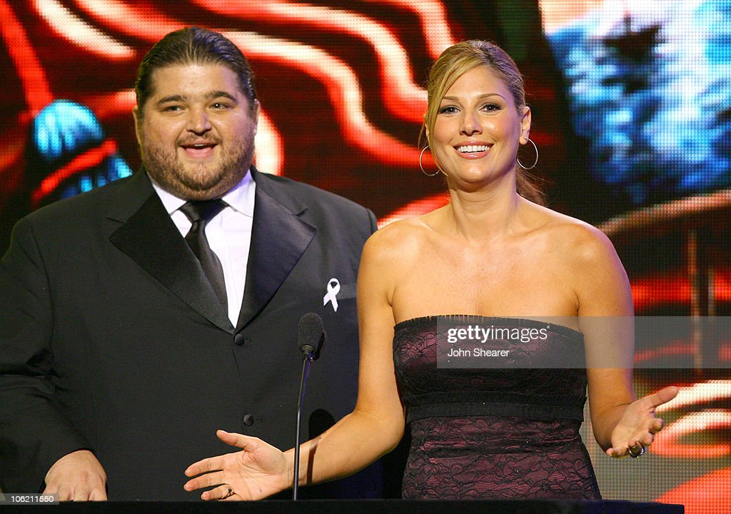 Jorge Garcia and Daisy Fuentes presenters during 2007 NCLR ALMA Awards Show at Pasadena Civic Center in Pasadena California United States