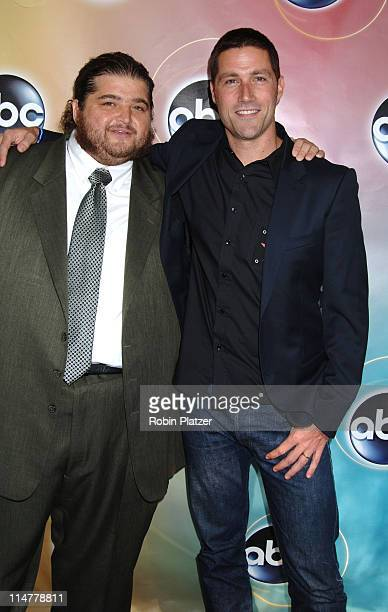 Jorge Garcia and Matthew Fox during ABC Upfront 2006/2007 Arrivals at Lincoln Center in New York City New York United States