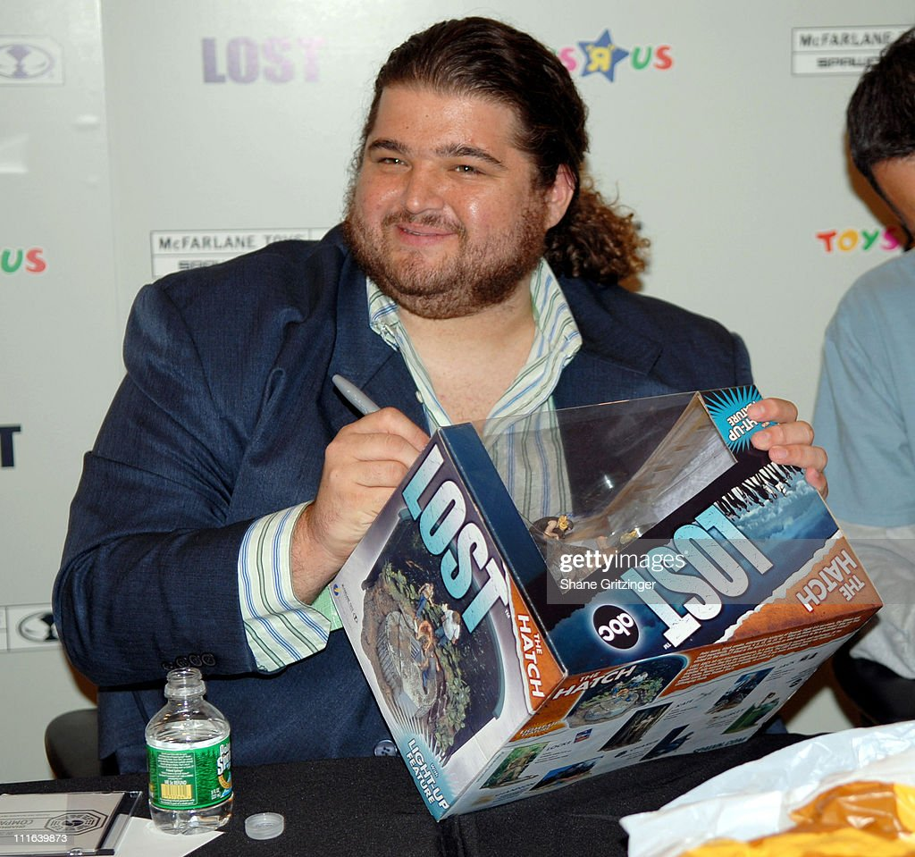 Jorge Garcia during Todd McFarlane and Jorge Garcia of TV's 'Lost' Launch 'Lost' Action Figures November 6 2006 at Toys 'R Us Times Square in New...