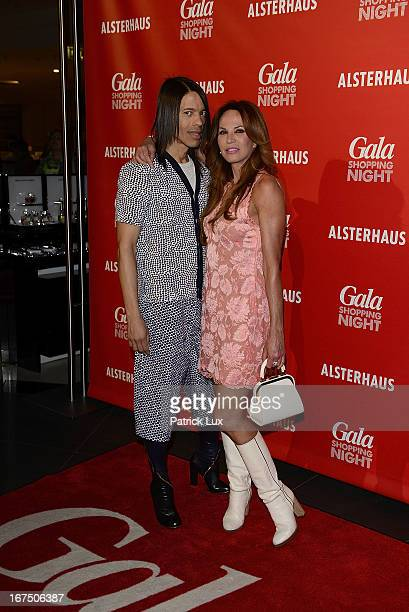 Jorge Gonzales and Rosalie van Breemen at Alsterhaus on April 25 2013 in Hamburg Germany