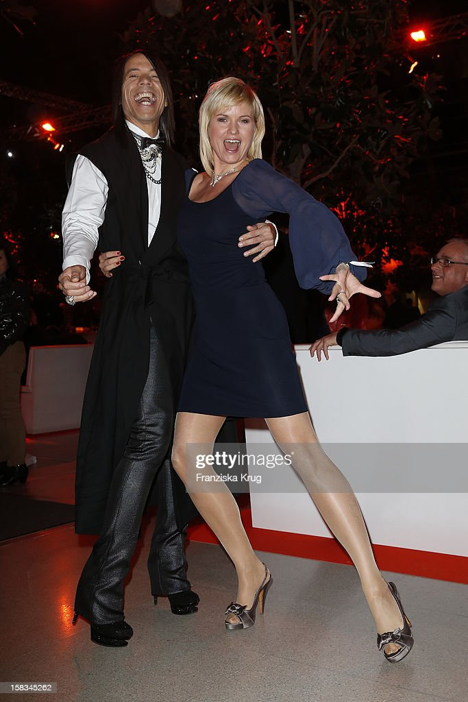 Jorge Gonzalez and Carola Ferstl attend the 18th Annual Jose Carreras Gala on December 13, 2012 in Leipzig, Germany.